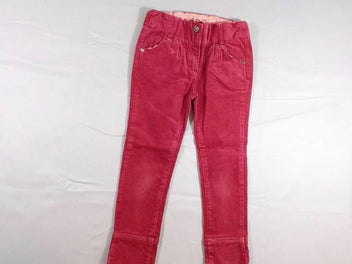 Pantalon velours côtelé rose