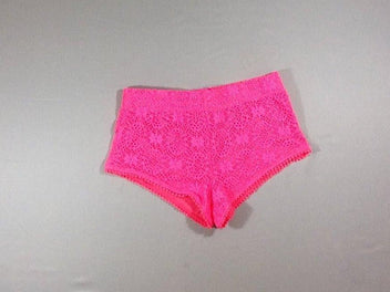Short court fushia vif broderies