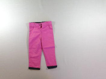 Pantalon rose à revers