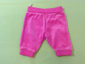 Pantalon velours ras rose vif
