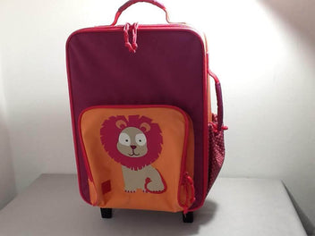Valise rose mauve orange Lion