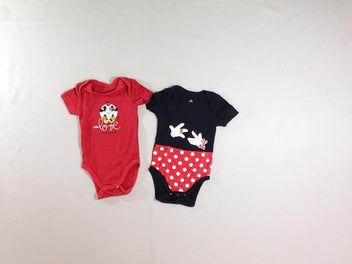 2 bodies m.c rouge/noir Minnie Mickey