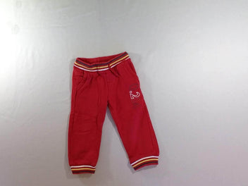 Pantalon de training molleton rouge