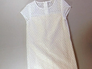 Robe m.c blanche voile cercles