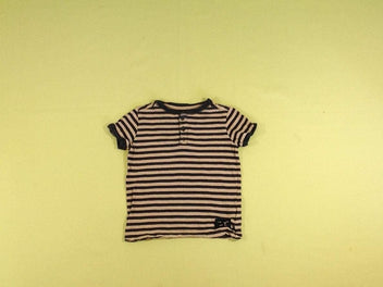 T-shirt m.c rayé beige/anthracite