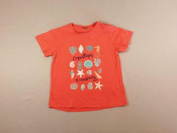 T-shirt m.c corail coquillages