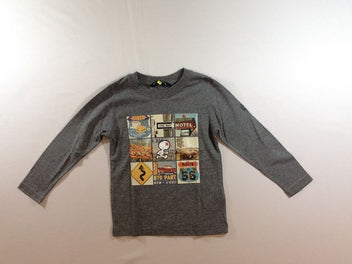 T-shirt m.l gris chiné Motel