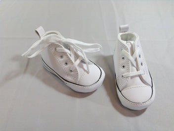 NEUF Converse All Star Chaussures souples blanches, 18 (11cm)