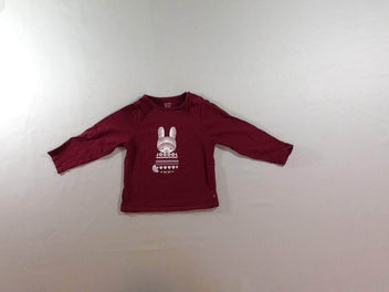 T-shirt m.l bordeaux lapin