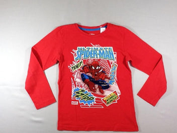 T-shirt m.l rouge Spiderman clignotant