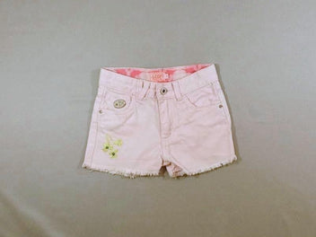 Short en jean rose pâle