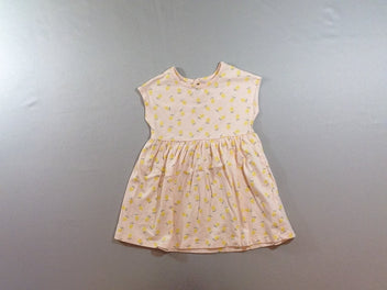 Robe m.c jersey rose citrons