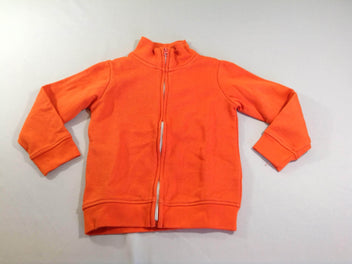 Gilet zippé molleton orange