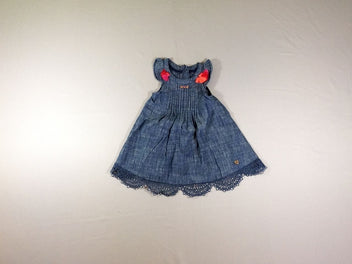 Robe s.m denim pompoms