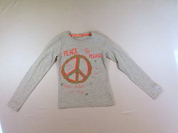 T-shirt m.l gris chiné Peace