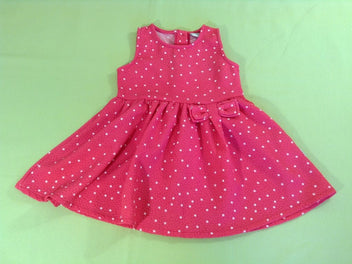 Robe s.m rose vif pois