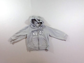 Sweat zippé à capuche gris 42