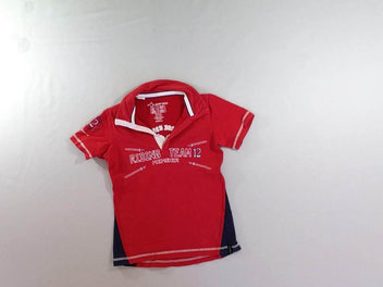 Polo m.c jersey rouge Fouganza