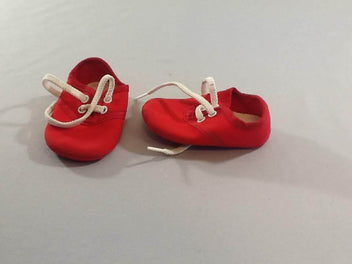 Chaussons souples rouge