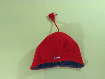 Bonnet polar rouge/gris