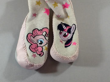 Chaussons-chaussettes blanc chiné/rose, My Little Pony