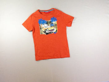 T-shirt m.c orange flammé auto