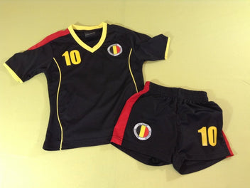 T-shirt m.c + short de foot noir Belgium