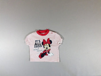 T-shirt m.c blanc pois rouges Minnie