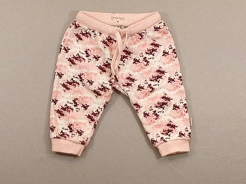 Pantalon molleton blanc/rose