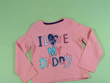 T-shirt m.l saumon « Love my Daddy »
