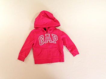 Sweat zippé à capuche rose vif GAP