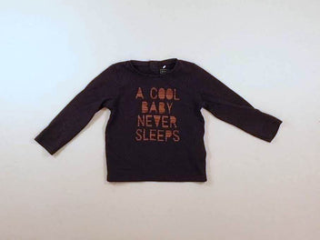 T-shirt m.l bleu marine « A cool baby never sleep »