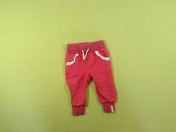 Pantalon molleton rose vif