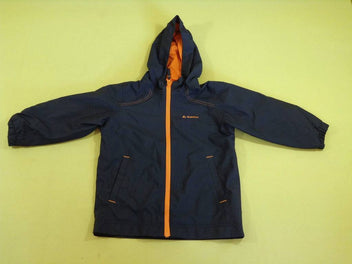 Veste imperméable bleu marine/orange