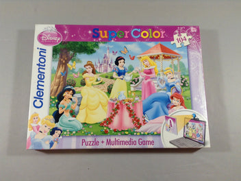Puzzle Princesses super Color Maxi, 104 pièces, +6a, Clementoni