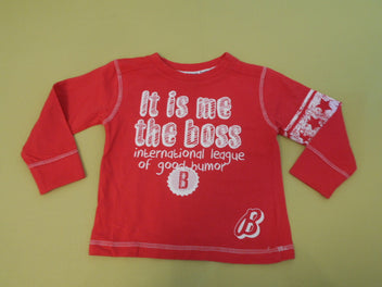 T-shirt m.l rouge It is me the boss