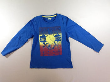 T-shirt m.l bleu Base-ball