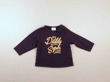 T-shirt m.l bleu marine « my Daddy is super cool »