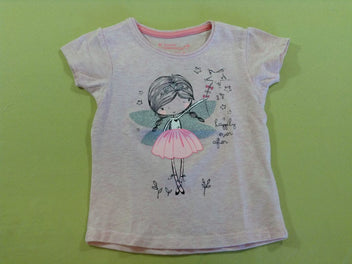 T-shirt m.c rose chiné danseuse