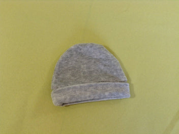 Bonnet velours gris chiné