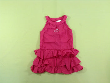 Robe s.m rose framboise à volants