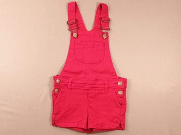 Salopette short rose vif