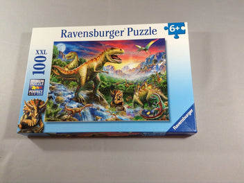 NEUF Puzzle 100 pièces dinosaures, 6+