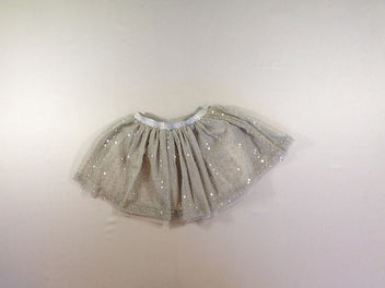 Jupe tulle gris sequins