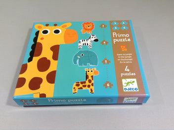 Primo puzzle dans la jungle, 4 puzzles, 3+