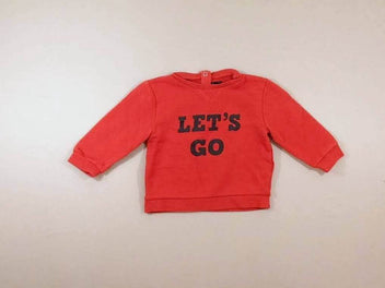 Sweat rouge « Let's Go »
