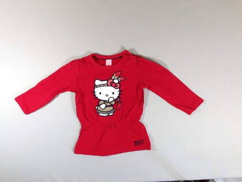 Tunique ml molleton rouge Hello Kitty