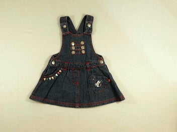 Robe salopette en jean Minnie