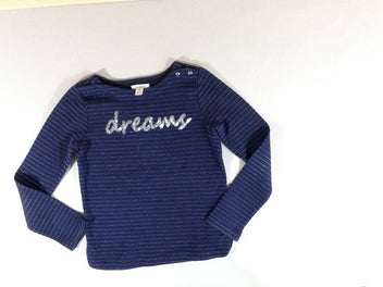 Sweat bleu marine rayé irisé dreams