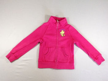 Sweat zippé rose vif Snoopy